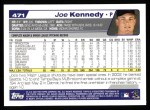2004 Topps #471  Joe Kennedy  Back Thumbnail