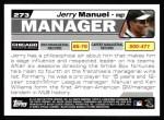 2004 Topps #273  Jerry Manuel  Back Thumbnail