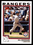 2004 Topps #100  Alex Rodriguez  Front Thumbnail