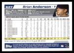 2004 Topps #627  Brian Anderson  Back Thumbnail