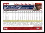 2004 Topps #389  Edgar Renteria  Back Thumbnail