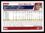 2004 Topps #602  Matt Morris  Back Thumbnail