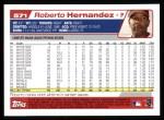 2004 Topps #571  Roberto Hernandez  Back Thumbnail