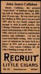 1912 T207 Reprint  Jimmy Callahan  Back Thumbnail