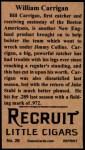 1912 T207 Reprint  Bill Carrigan  Back Thumbnail