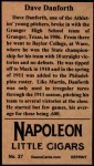 1912 T207 Reprint  Dave Danforth  Back Thumbnail