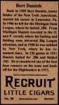 1912 T207 Reprint  Bert Daniels  Back Thumbnail