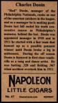 1912 T207 Reprint  Charles Dooin  Back Thumbnail