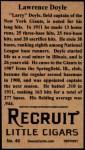 1912 T207 Reprint  Larry Doyle  Back Thumbnail