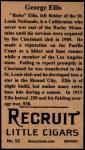 1912 T207 Reprint  George Ellis  Back Thumbnail