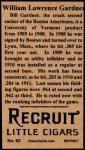 1912 T207 Reprint  Larry Gardner  Back Thumbnail