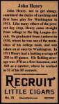 1912 T207 Reprint  John Henry  Back Thumbnail