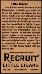 1912 T207 Reprint  Otto Knabe  Back Thumbnail