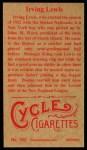 1912 T207 Reprint  Irving Lewis  Back Thumbnail