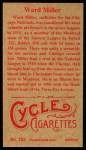 1912 T207 Reprint  Ward Miller  Back Thumbnail