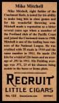 1912 T207 Reprint  Mike Mitchell  Back Thumbnail