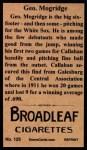 1912 T207 Reprint  George Mogridge  Back Thumbnail