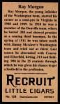 1912 T207 Reprint  Ray Morgan  Back Thumbnail