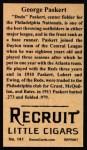 1912 T207 Reprint  George Paskert  Back Thumbnail