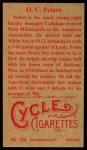 1912 T207 Reprint  O. C. Peters  Back Thumbnail