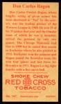 1912 T207 Reprint  Don Carlos Ragan  Back Thumbnail