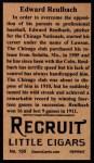 1912 T207 Reprint  Ed Reulbach    Back Thumbnail