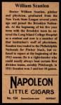 1912 T207 Reprint  Bill Scanlon  Back Thumbnail