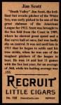 1912 T207 Reprint  Jim Scott  Back Thumbnail