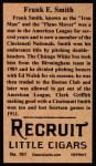 1912 T207 Reprint  Frank E. Smith  Back Thumbnail