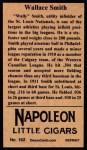 1912 T207 Reprint  Wallace Smith  Back Thumbnail