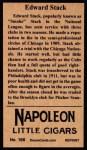 1912 T207 Reprint  Edward Stack  Back Thumbnail