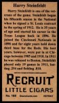 1912 T207 Reprint  Harry Steinfeldt  Back Thumbnail