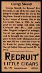 1912 T207 Reprint  George Stovall  Back Thumbnail
