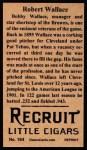 1912 T207 Reprint  Robert Wallace  Back Thumbnail
