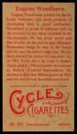 1912 T207 Reprint  Eugene Woodburn  Back Thumbnail