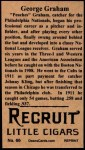 1912 T207 Reprint  Peaches Graham  Back Thumbnail