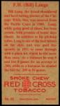 1912 T207 Reprint  F.H. 'Bill' Lange    Back Thumbnail