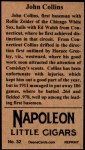 1912 T207 Reprint  Shano Collins  Back Thumbnail