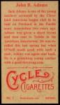 1912 T207 Reprint  John Adams  Back Thumbnail