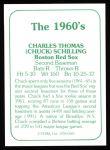 1978 TCMA The 1960's #183  Chuck Schilling  Back Thumbnail
