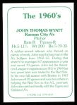 1978 TCMA The 1960's #159  John Wyatt  Back Thumbnail