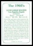 1978 TCMA The Stars of the 1960s #125 A Leon Wagner  Back Thumbnail