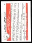 1979 TCMA The 1950's #291  Jackie Robinson  Back Thumbnail