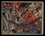 1938 Gum Inc. Horrors of War #110   Rebel Bomb Floods Air Raid Shelter Front Thumbnail