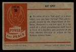 1954 Bowman Power for Peace #56   Hot Spot Back Thumbnail