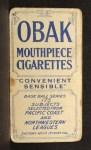 1910 T212 Obak 175 George Ort  Back Thumbnail