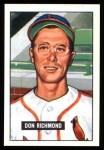 1951 Bowman REPRINT #264  Don Richmond  Front Thumbnail