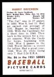 1951 Bowman REPRINT #86  Harry Brecheen  Back Thumbnail