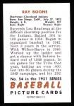 1951 Bowman REPRINT #54  Ray Boone  Back Thumbnail