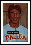1951 Bowman REPRINT #112  Willie Jones  Front Thumbnail